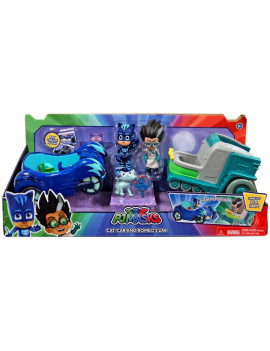 Disney Junior PJ Masks Cat-Car & Romeo's Lab Vehicle & Figure 2-Pack