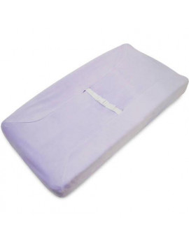 American Baby Company Heavenly Soft Chenille Fitted Contoured Changing Pad Cover, Lavender, for Girls