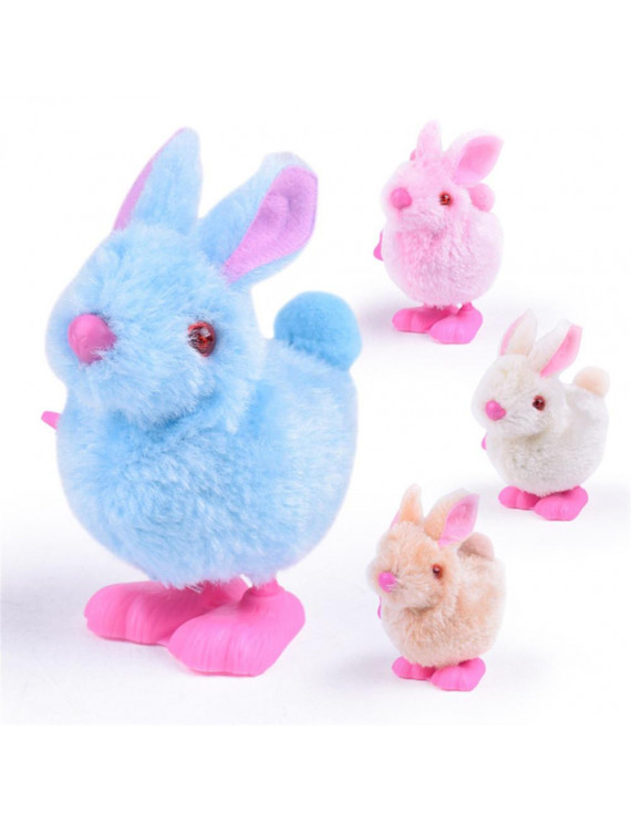 Egmy Pluh Bunny Toys Infant Child Stuffed Toys Hopping Wind Up Collect Easter Gift