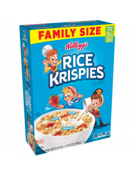 Kellogg's, Rice Krispies Breakfast Cereal, Original, Family Size, 24 Oz