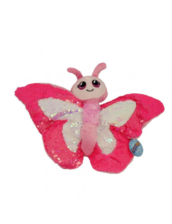 Adventure Planet Sequinimals Plush - BUTTERFLY (Sequin - Pink & White) (10 inch)