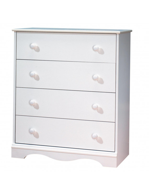 South Shore Angel 4-Drawer Chest, Pure White