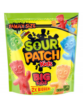 Big Sour Patch Kids Candy, Original Flavor, 1 Family Size Bag (1.7 lb)