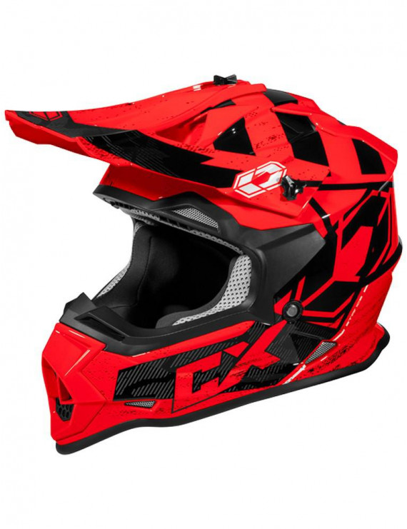 Castle Mode Stance Youth MX Offroad Helmet Red