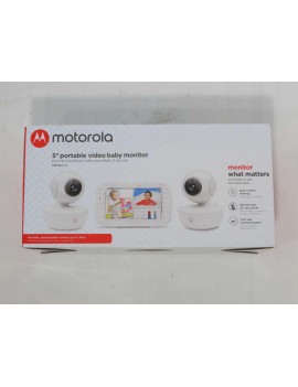 "Motorola MBP36XL-2 5"" Portable Baby Monitor w/Color Screen and 2 Cameras"