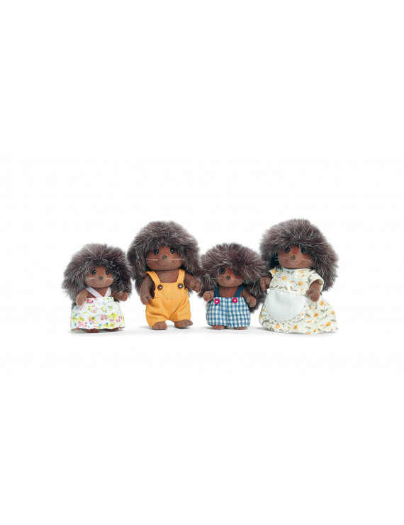 Calico Critters Pickleweeds Hedgehog Family, 4 Poseable Figures