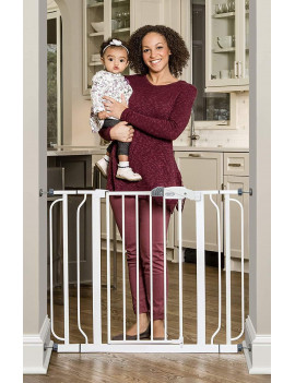 Regalo Easy Step Extra Wide Baby Gate, Includes 4-Inch and 4-Inch Extension Kits, 4 Pack of Pressure Mounts Kit and 4 Pack of Wall Mount Kit NEW