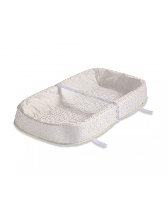 "LA Baby 30"" 4-Sided Cocoon Style Waterproof Changing Pad with Organic Cotton Layer"