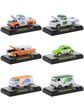"""Fanta"" & ""Sprite"" Release, Set of 6 Cars Limited Edition to 3,000 pcs Worldwide 1/64 Diecast Model Cars by M2 Machines"