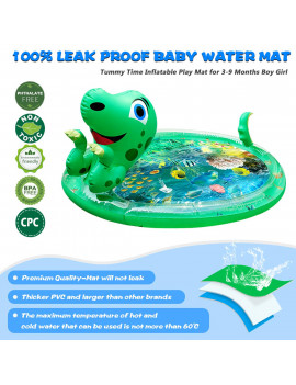 "47""x29""Inflatable Tummy Time Premium Water mat ,Baby Water Mat Newborns Toy Play Activity Center for Baby's Stimulation Growth,for Infants,Babies Boy,Kids,Toddlers,for Kids Outdoor,for Baby Girls"