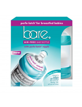 Bare Air-Free Feeding System With Perfe-Latch Nipple. 4oz twin pk.