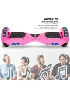 CHO Electric 6.5 inch Hoverboard Smart Self Balancing Scooter Hoover Board with Built in Speaker LED Light UL2272 Certified