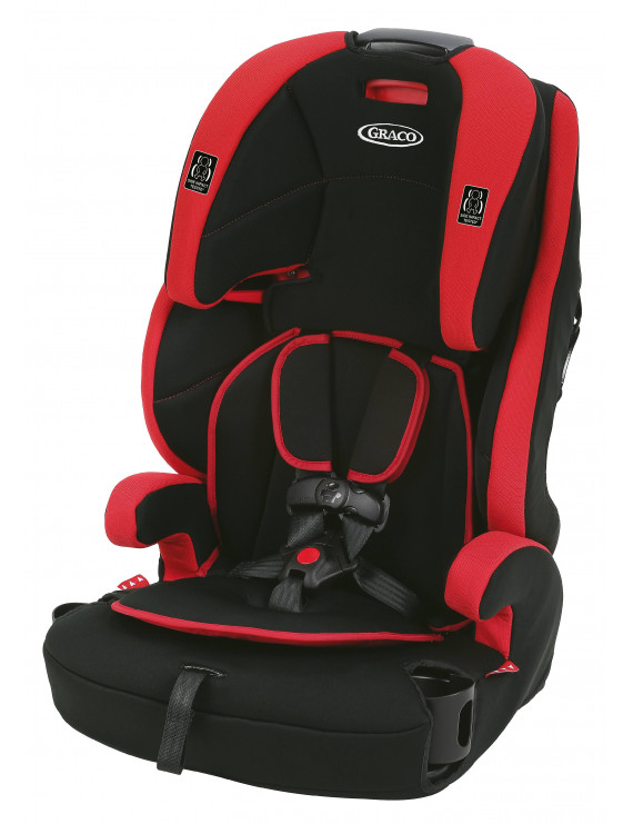 Graco Wayz 3-in-1 Harness Booster Car Seat, Gordon Red