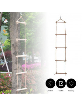 Climbing Rope Ladder for Kids, Swing Set Accessories, Additions & Replacements for Active Outdoor Play Equipment