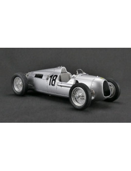 1936 Auto Union Type C Silver #18 Eifel Race Bernd Rosemeyer Limited Edition to 1500pcs 1/18 Diecast Model Car by CMC