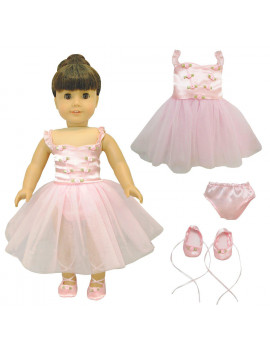 "Doll Clothes - Ballet Ballerina Fits American Girl & Other 18"" Inch Dolls"