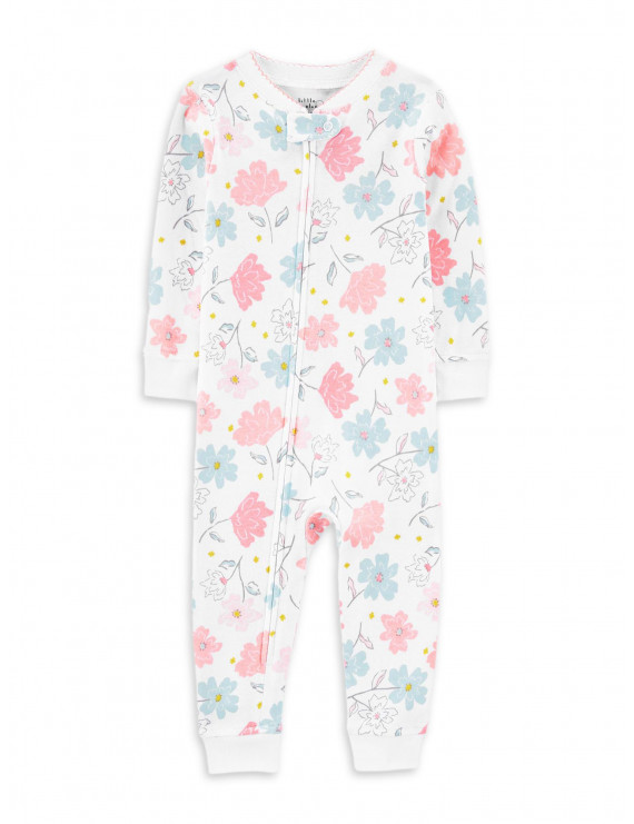 Little Planet Organic by Carter's Baby Girls 1-Piece Snug Fit Organic Cotton Sleeper Footless Pajamas (12M-24M)
