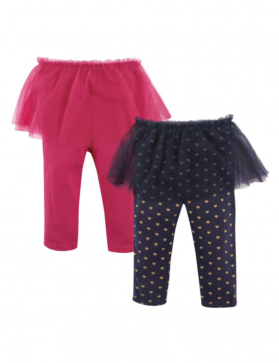 Hudson Baby Girl Tutu Leggings, 2-pack