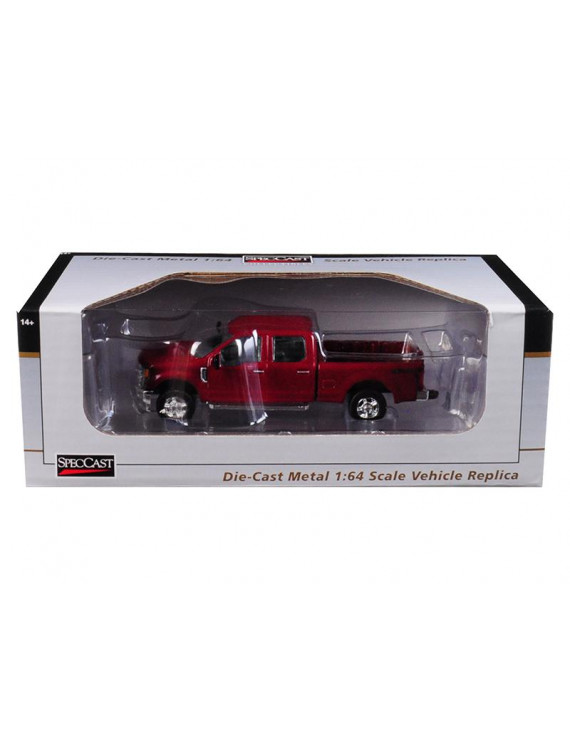 2017 Ford F-350 Pickup Truck Ruby Red 1/64 Diecast Model Car by SpecCast