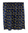 """West Virginia Mountaineers 100% Cotton, 63"""" Curtain Panels, Set of 2"""