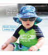 JAN & JUL Toddler Sun-Hat Boy Girl, UPF 50 Protection, Brim Stays-on Wet or Dry (L: 2-5 years, White)