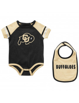 Colorado Buffaloes Colosseum Newborn & Infant Warner Bib & Bodysuit Set - Black