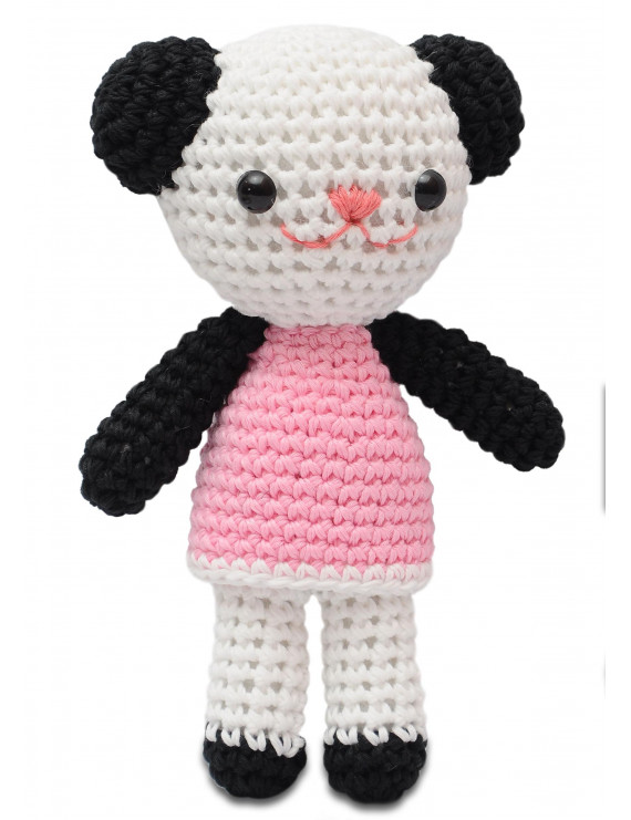 Pink-White Bears, Cats Handmade Amigurumi Stuffed Toy Knit Crochet Doll VAC