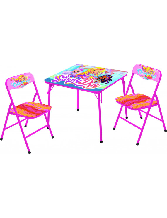 Sunny Day 3 Piece Collapsible Kids Table and Chair Activity Set