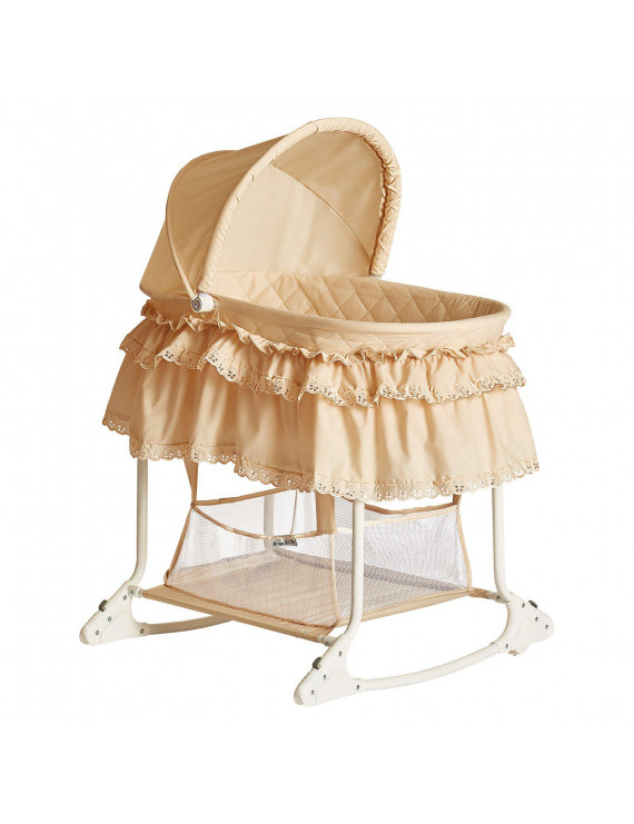 Dream On Me Willow Bassinet Beige