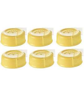 (6) Medela Solid Lids - Yellow/ solid cap/ bottle lid/ bottle solid cap - for Medela Bottles