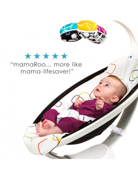 4moms mamaRoo 4 Baby Swing | Bluetooth Baby Rocker with 5 Unique Motions | Cool Mesh Fabric | Dark Grey