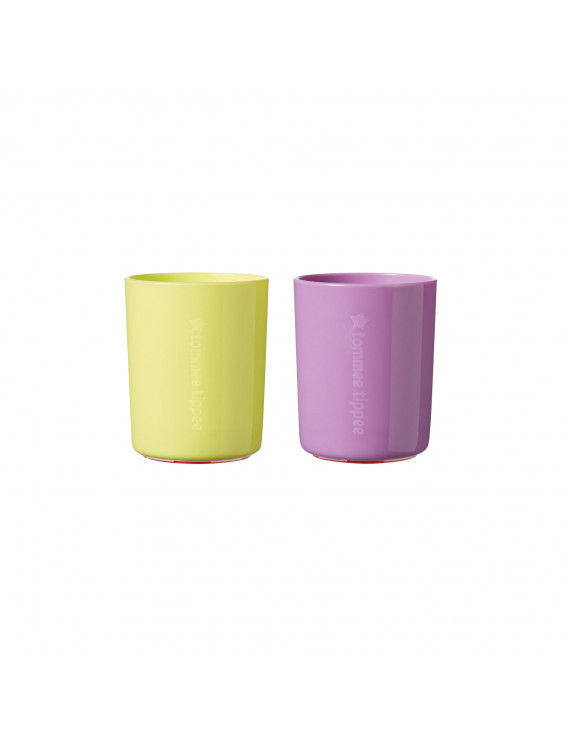 Tommee Tippee No Knock™ Toddler Cup, Yellow & Purple – 6oz, 12+ months, 2-Pack