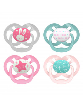 Advantage Stage 2 Pacifier - 4PK Pink