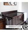 Delta Children Kingswood 4-in-1 Convertible Baby Crib, Walnut Espresso
