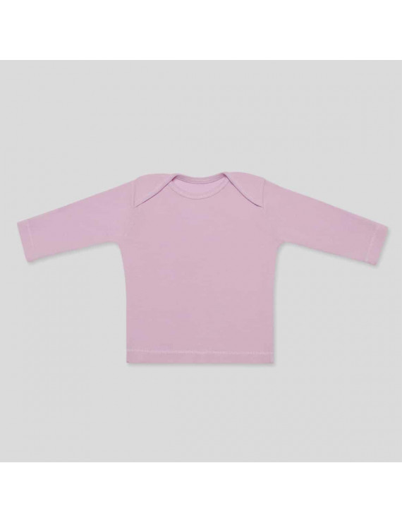 Baby Long Sleeve Tee - 6-9 Months, Light Pink