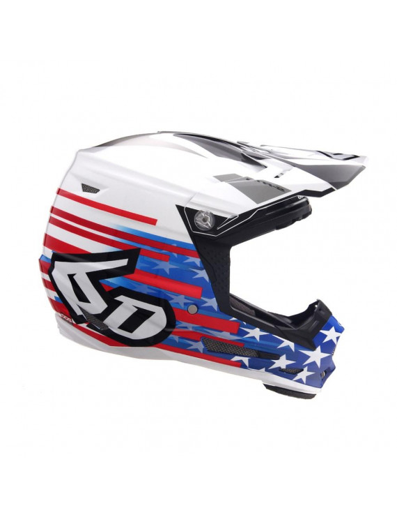 6D Helmets 2019 Youth ATR-2Y Patriot Offroad Helmet Red/White/Blue Youth X-Large
