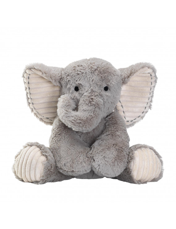 Lambs & Ivy Jungle Safari Gray Plush Elephant Stuffed Animal Toy - Jett