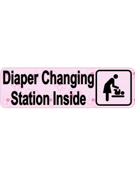 10in x 3in Pink Diaper Changing Station Magnet
