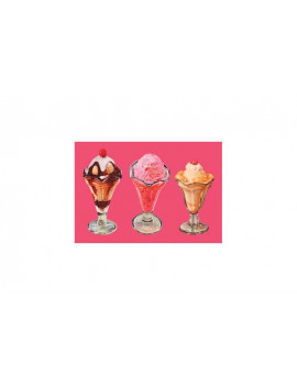 """Three Sundaes"" Print (Unstretched Canvas Giclee 20x30)"