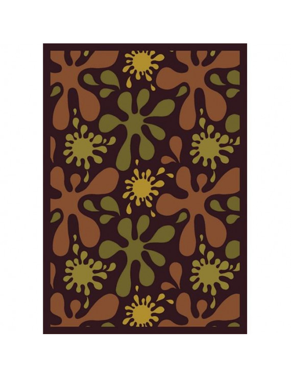 Joy Carpets 1572D-02 Splat Burgundy 7 ft.8 in. x 10 ft.9 in. 100 Pct. STAINMASTER Nylon Machine Tufted- Cut Pile Whimsy Rug