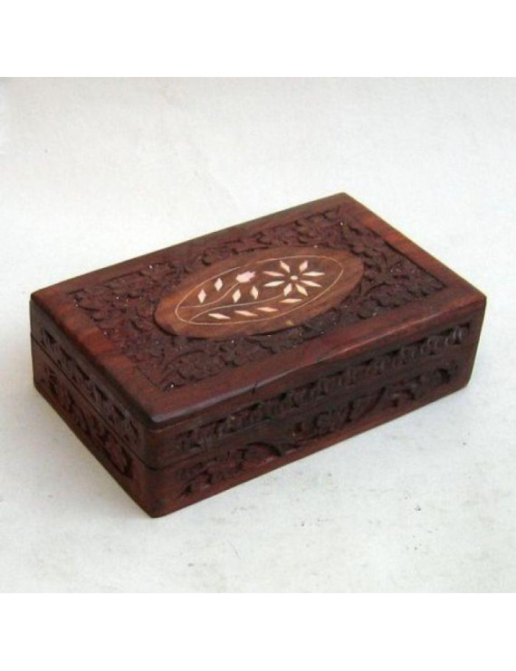 India Overseas Trading SH104 - Carved Wooden Box