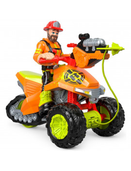 Rescue Heroes Forrest Fuego & Fire Tracker Vehicle