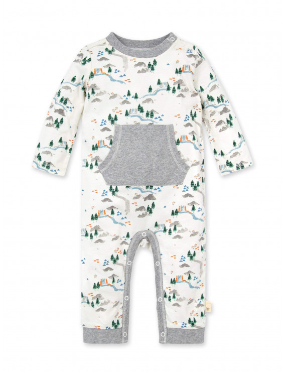 Burt's Bees Baby Boy Camp Grounds Jumpsuit