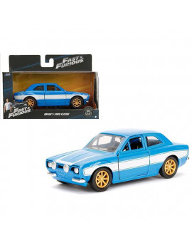 1 isto 32 Brians Ford Escort Fast & Furious Movie Diecast Model Car, Blue & White