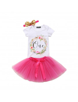 Owl's-Yard Baby Girl 1st Birthday Outfit