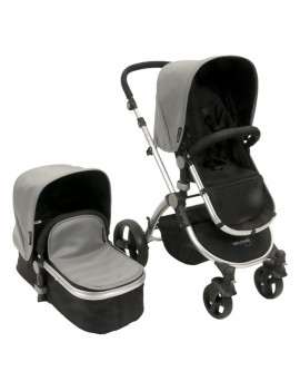 Babyroues Letour II Lux Stroller with Bassinet Travel System - Gray