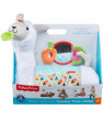 Fisher-Price Grow-with-Me Tummy Time Plush Llama with 3-Toys