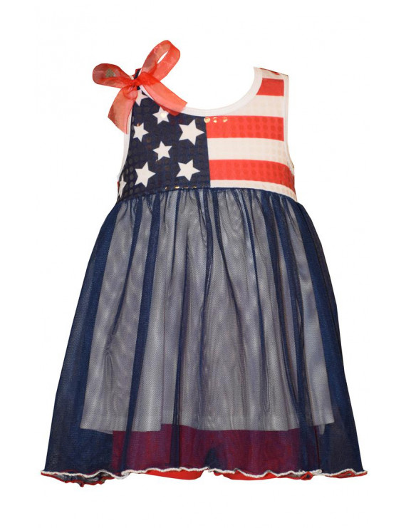 Bonnie Jean Baby Flag Bodice 4th of July Dress 24 months
