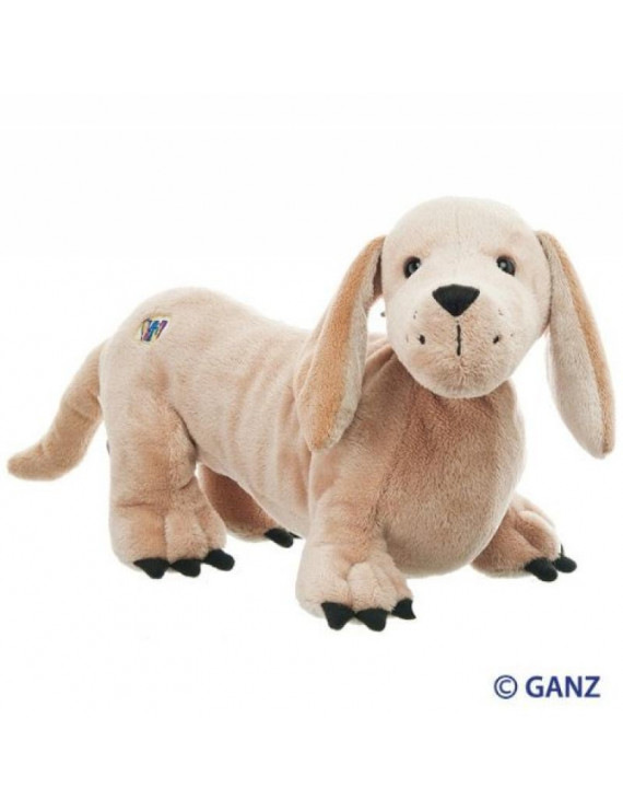 Webkinz Blonde Dachshund with Trading Cards