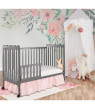Dream On Me Classic 3-in-1 Convertible Crib - Steel Grey